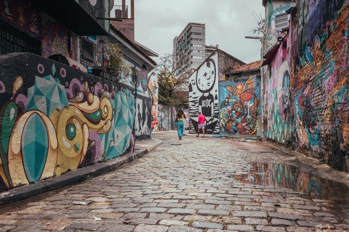 Batman Alley Graffitis in São Paulo, Brazil