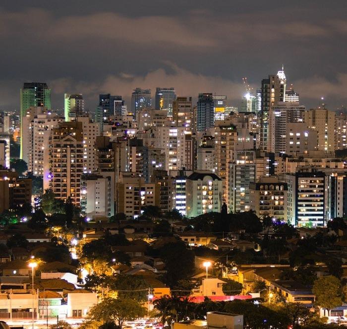 Skyline nightview of São Paulo