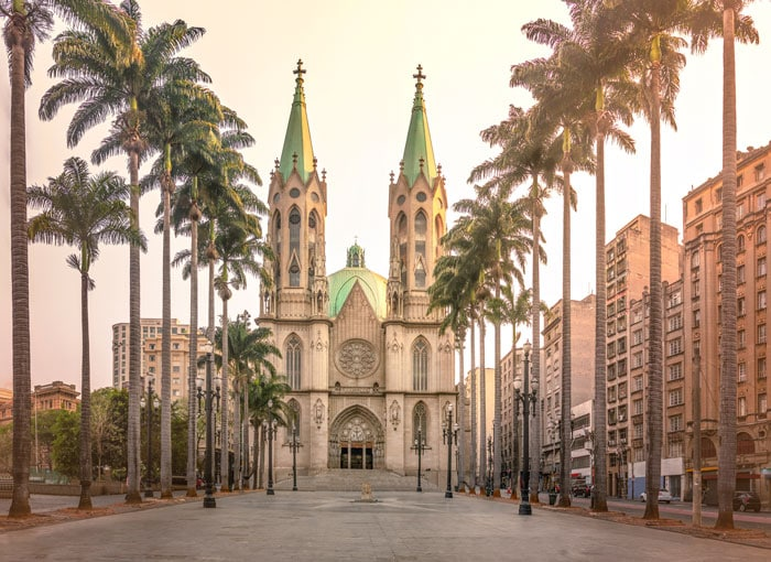 Sé Cathedral and Square in São Paulo