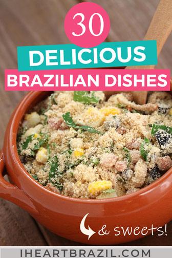 Traditional Brazilian food Pinterest graphic