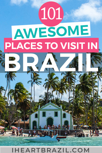 Places to visit in Brazil Pinterest graphic