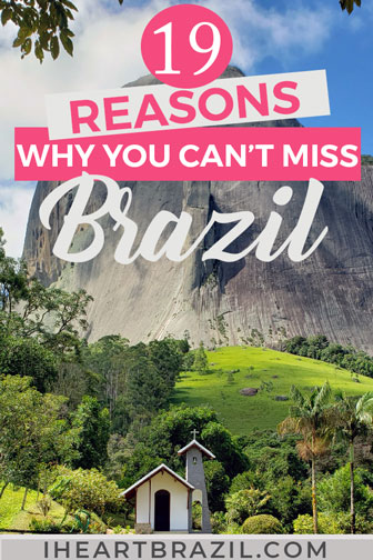 Reasons to visit Brazil Pinterest graphic