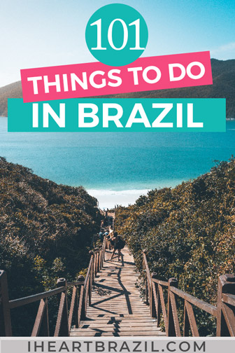 Things to do in Brazil Pinterest graphic
