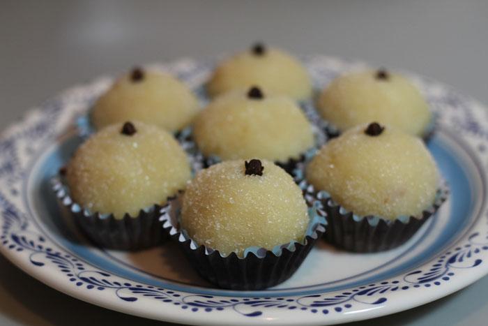 Beijinho is a coconut fudge truffle