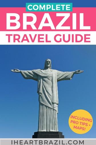 Brazil travel guide Pinterest graphic