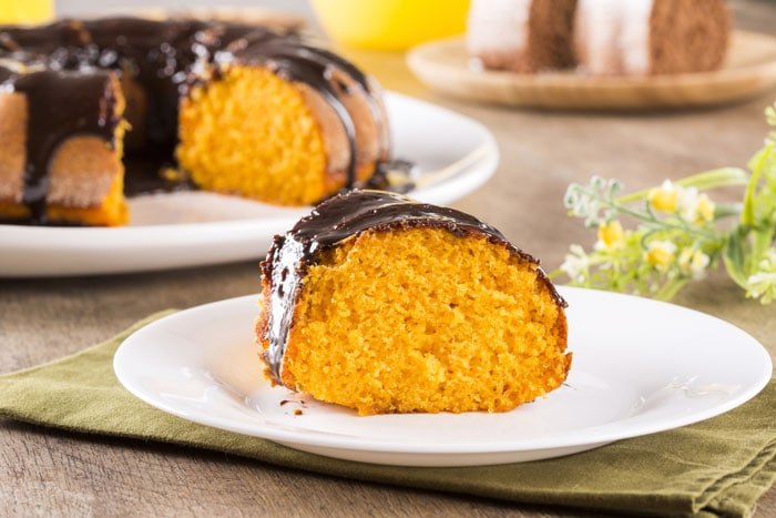 Brazilian carrot cake with chocolate, or bolo de cenoura com chocolate