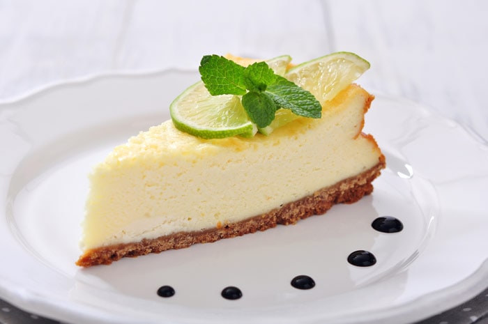 Sicilian ricotta pie on a white plate
