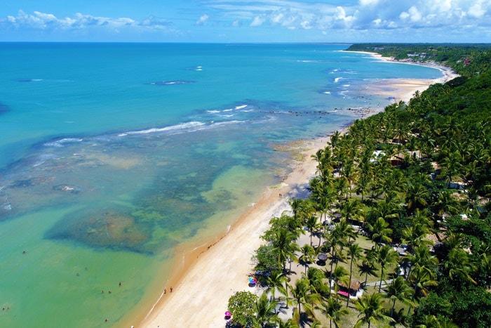 Espelho beach in Trancoso, Bahia