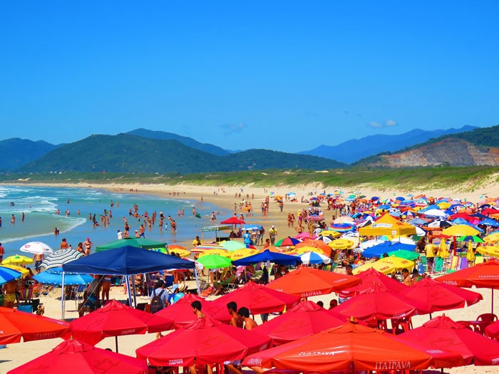 Joaquina beach in Santa Catarina