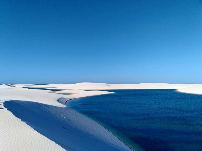 Sand dunes at Lençóis Maranhenses