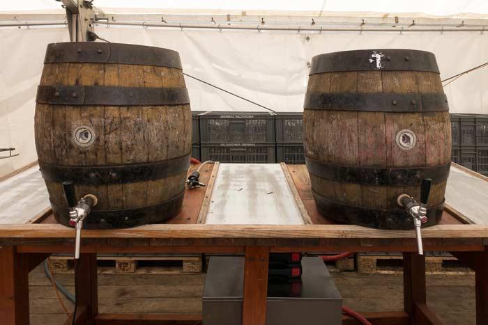 Beer barrels at Oktoberfest Blumenau, Santa Catarina