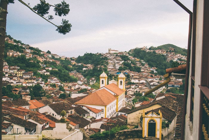Colonial town of Ouro Preto in Brazil