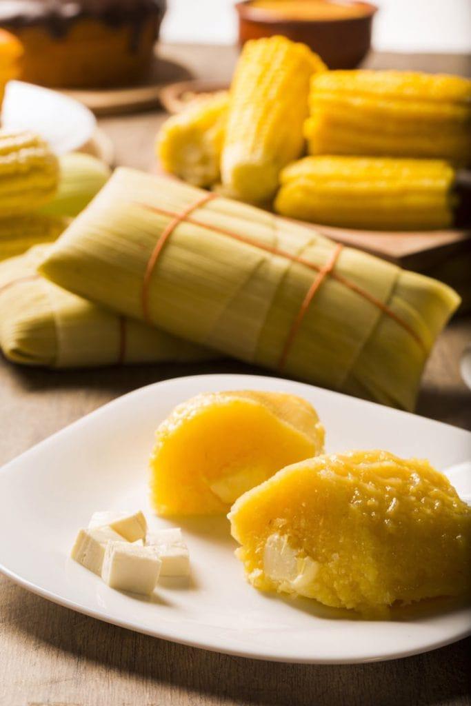 Pamonha is a traditional Brazilian food