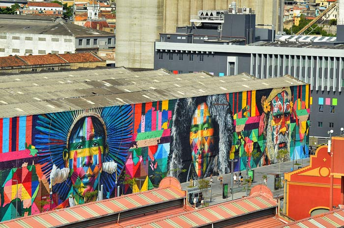 Kobra's mural Ethnicities in Rio de Janeiro at the Olympic Boulevard