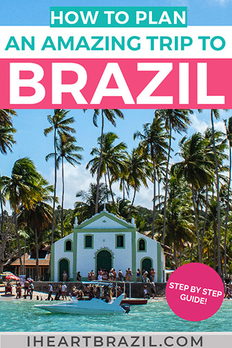Planning a trip to Brazil Pinterest graphic