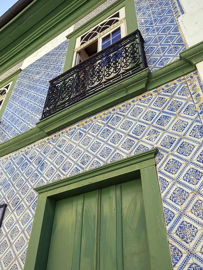 Facade of historic house in Itu, São Paulo