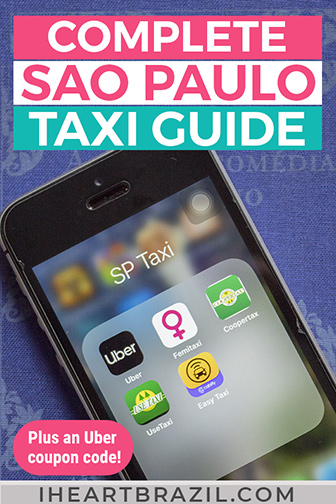 Sao Paulo taxi apps Pinterest graphic