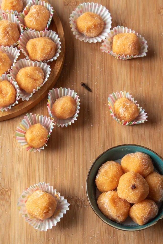 Pumpkin brigadeiro is a tasty fall dessert
