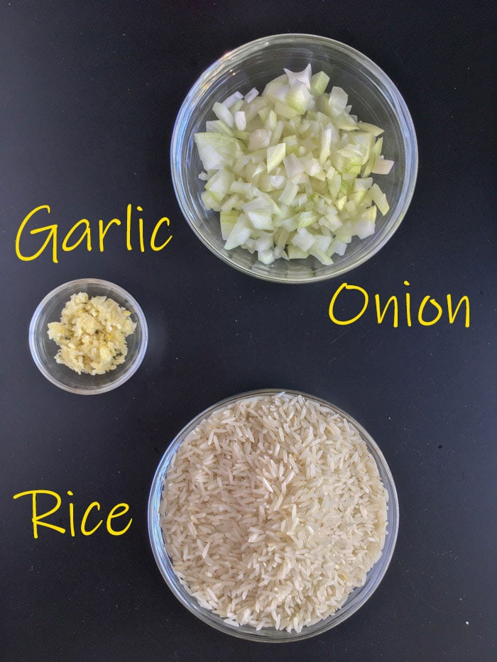 Brazilian rice ingredients