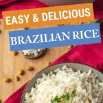 Brazilian rice recipe Pinterest graphic