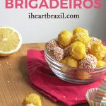 Recipe for lemon brigadeiro Pinterest graphic