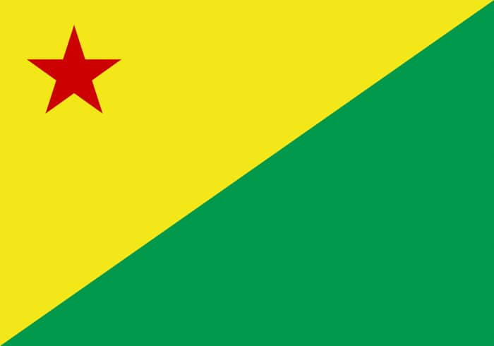 Acre Brazil State Flag