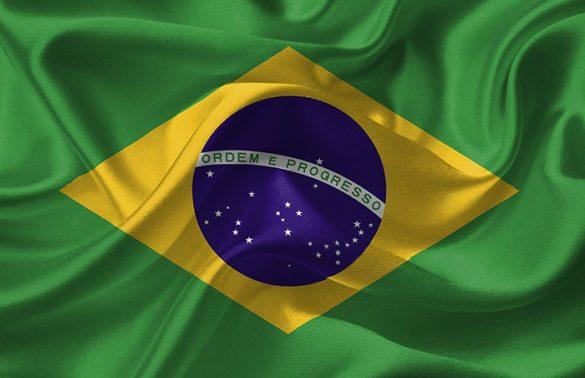 Brazil Flag for the National Anthem of Brazil