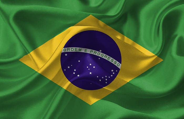 Brazil Flag for the National Anthem of Brazil