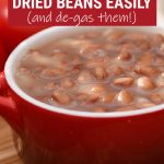 How to cook dried beans in a pressure cooker Pinterest graphic