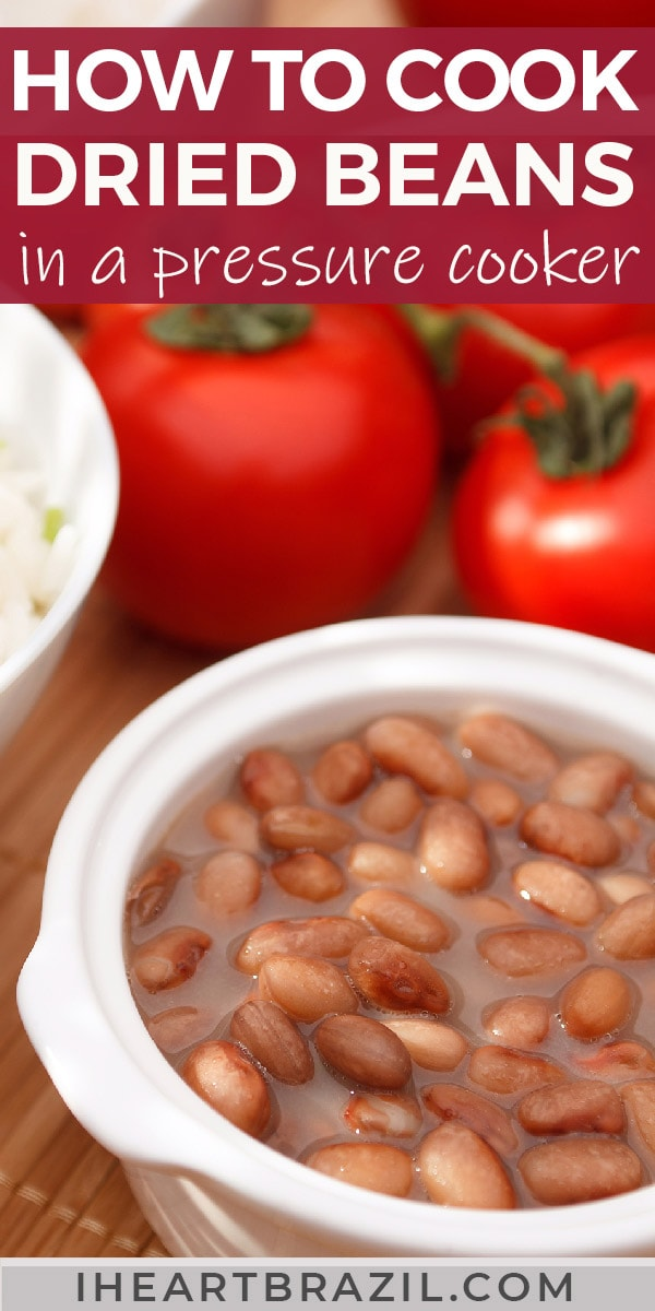 How to cook beans the Brazilian way. This simple guide will show you step-by-step how to easily cook delicious beans for your family. Read now!   How to cook beans fast   How to cook beans without soaking   How to cook beans in a pressure cooker   How to cook beans in an instant pot   How to cook beans on the stove   Brazilian food   Brazilian side dishes   traditional Brazilian food   Brazilian beans   Brazilian recipes #BrazilianFood #iheartbrazil