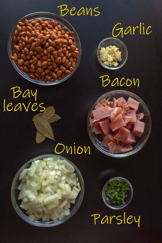 Ingredients for Brazilian beans