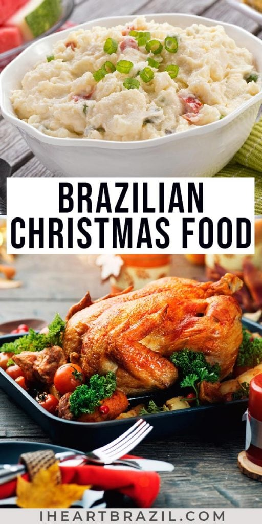 Brazilian Christmas food Pinterest graphic