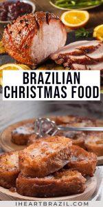 Brazilian Christmas food Pinterest graphic