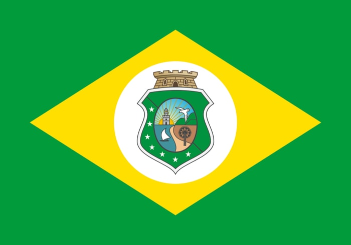 Ceara Brazil State Flag