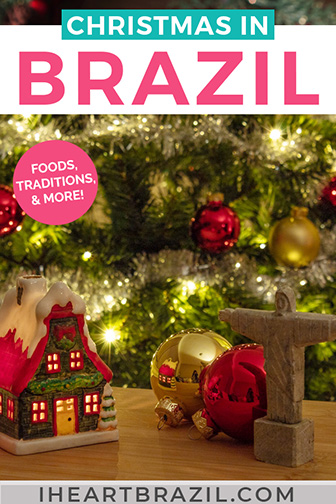 Brazil in Christmas Pinterest graphic