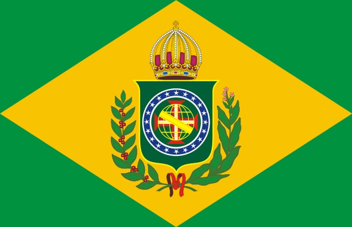 First flag of Brazil, the Empire