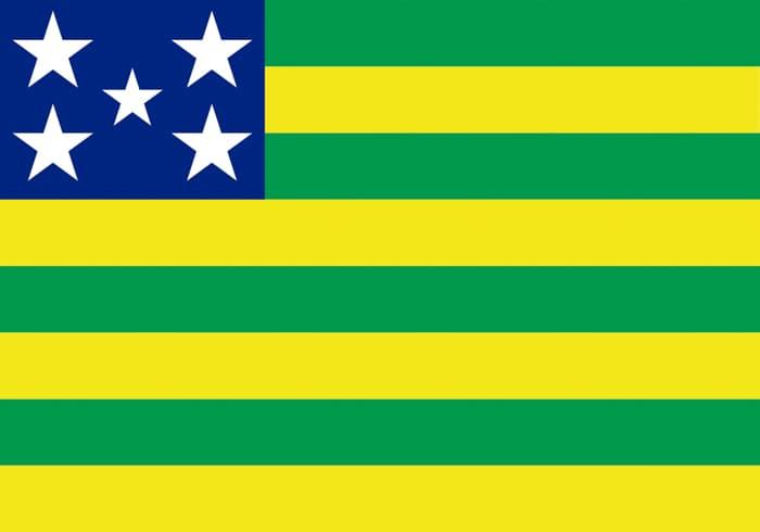 Goias Brazil State Flag