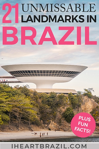 Brazilian landmarks Pinterest graphic
