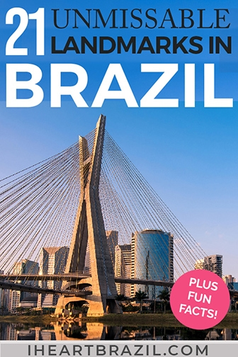 Landmarks in Brazil Pinterest graphic