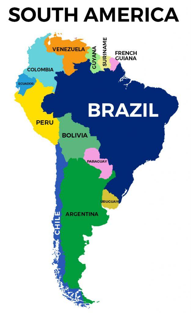 Image of: Brazil Map Detailed Map Of Brazil Free Download 2020 I Heart Brazil