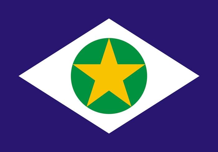 Mato Grosso Brazil State Flag