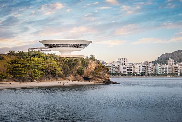 Niteroi Contemporary Art Museum in Rio de Janeiro