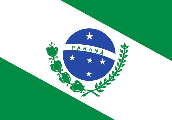 Parana Brazil State Flag