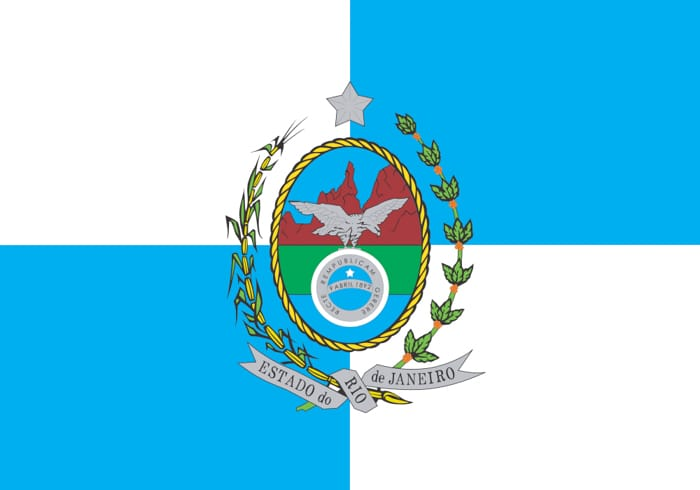 Rio de Janeiro Brazil State Flag