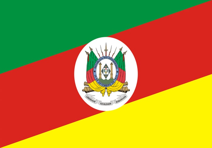 Rio Grande do Sul Brazil State Flag