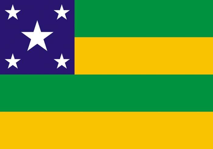 Sergipe Brazil State Flag