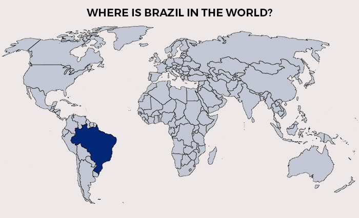Brazil in the world map