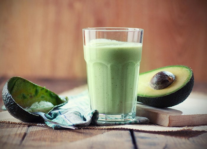 Avocado smoothie, the vitamina is a drink of Brazil