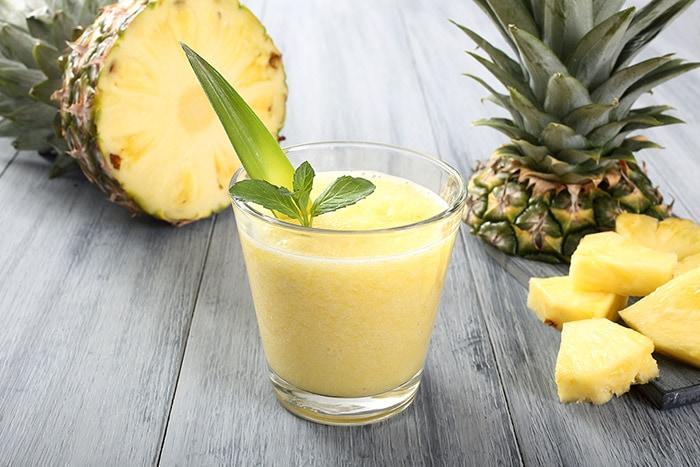 Pineapple batida, tropical cocktail of Brazilian