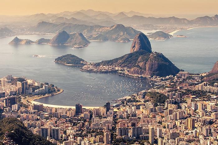 Botafogo and Sugar Loaf in Rio de Janeiro